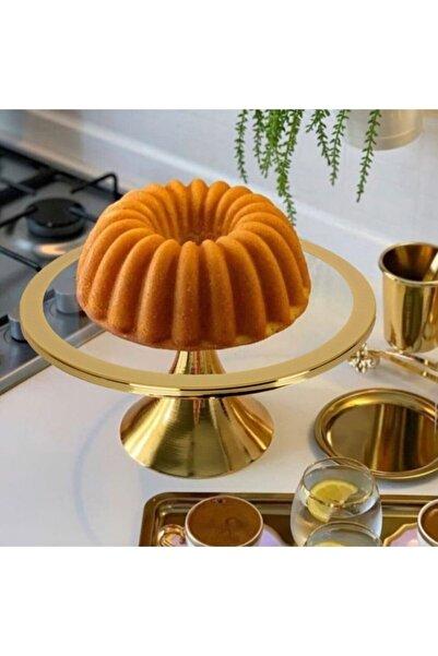 Olcay Home Lüx Kek,pasta,sunumluk Stand - Gold