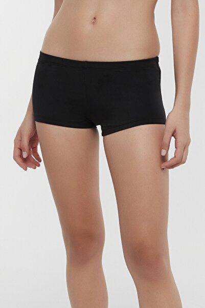 Penti Kadın Siyah Basic Boxer Bikini Altı