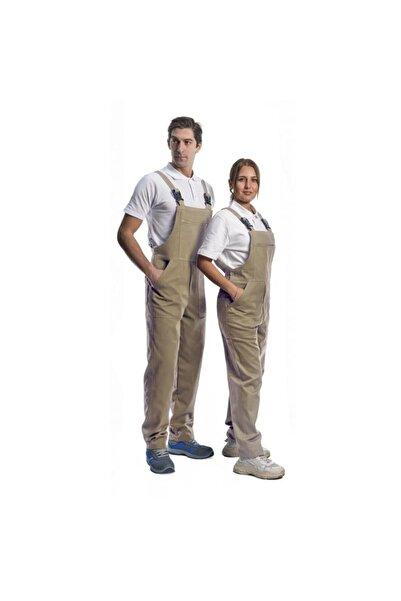 Endüstri Giyim Bej Askılı Bahçıvan Tulum Iş Tulumu Iş Elbisesi %100 Pamuk