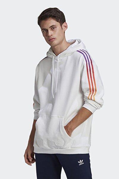 adidas Erkek Beyaz Günlük Kapşonlu Sweatshirt Sprt Sweat Hood Gn2425