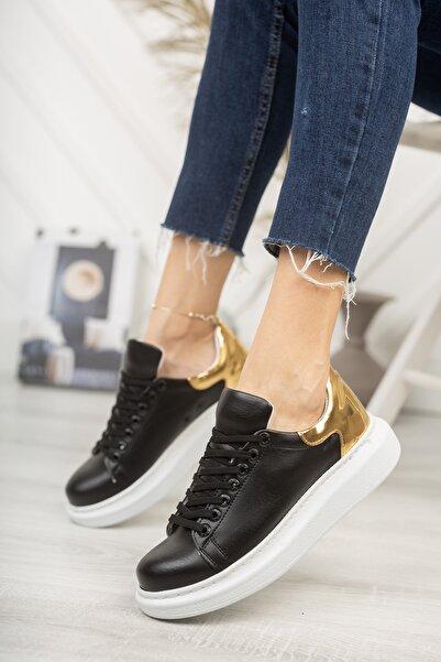Chekich Ch259 Kadın Ayakkabı Siyah Altın