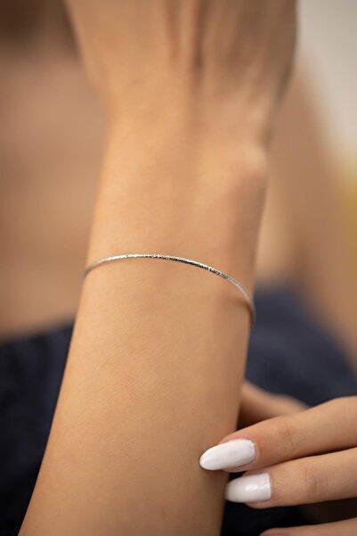 İzla Design Yılan Derisi Model Gümüş Italyan Bilezik