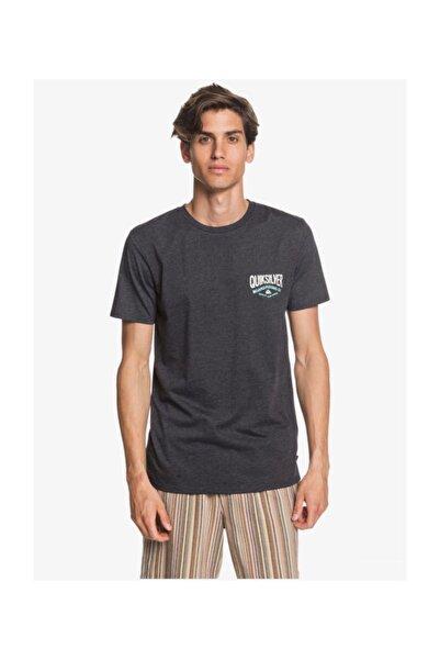 Quiksilver Gri Cloud Corner Erkek T-shirt