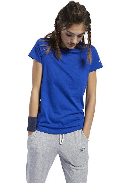 Reebok Workout Comm Kadın Mavi Günlük T-Shirt  FQ6640
