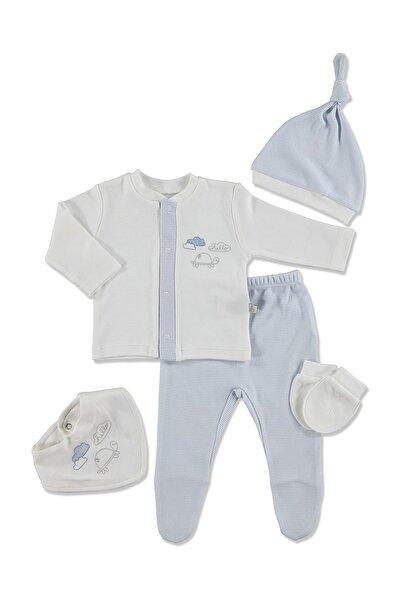 Bebbek Chic Baby 5li Yenidoğan Bebek Hastane Çıkışı Zıbınlı Set
