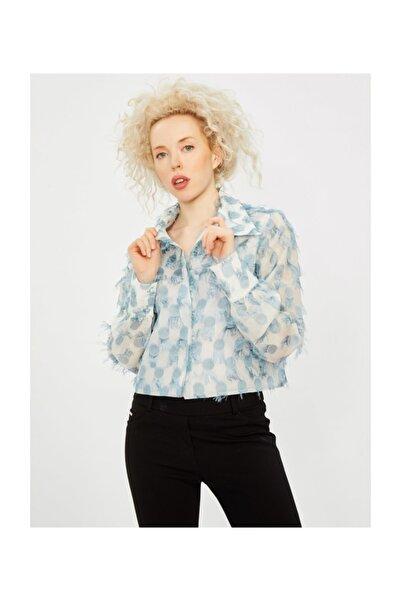 Vekem Kadın Mavi Püskül Detaylı Ceket