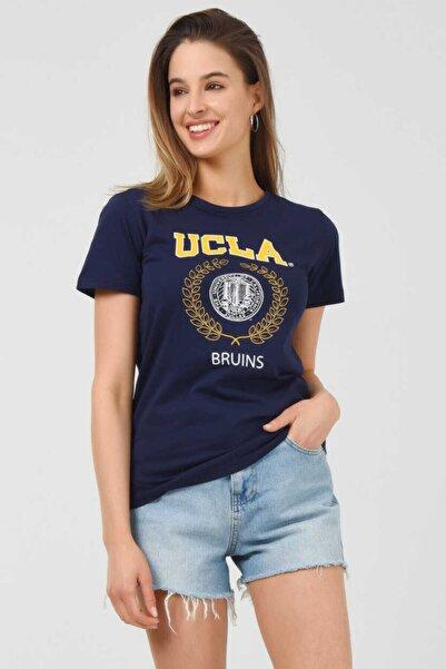 UCLA Artesıa Lacivert Bisiklet Yaka Kadın T-shirt