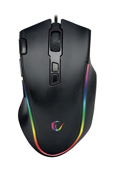 Rampage Smx-g72 Greedy Usb Siyah 4800dpi Rgb Ledli Makrolu Gaming Oyuncu Mouse