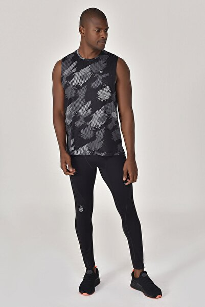 bilcee Siyah Erkek Örme Atlet GS-8841