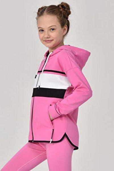 Pembe Kız Çocuk Eşofman Üstü GS-8170