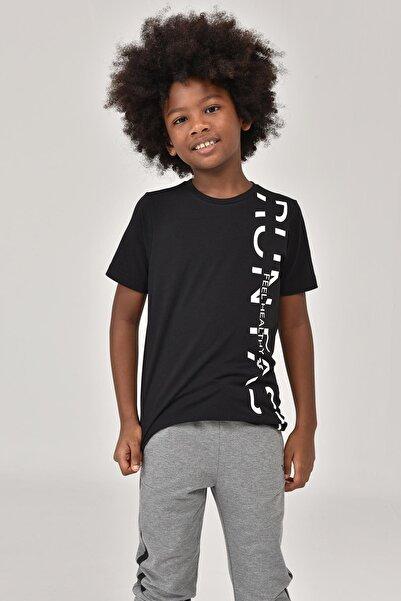 bilcee Siyah Unisex Çocuk T-Shirt FW-1473