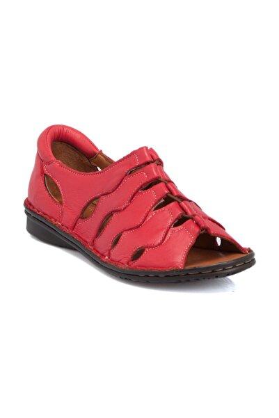 Tergan Kırmızı Deri Kadın Ayakkabı 64526A30