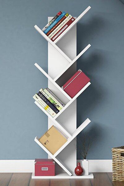 Bimossa W4030 Hitit Raflı Kitaplık Beyaz
