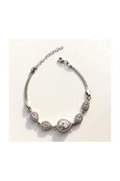 Afrodit Silver 925 Ayar Gümüş Damla Modeli Bileklik