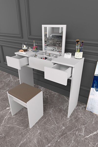 Parlavita Martı Makyaj Masası Beyaz