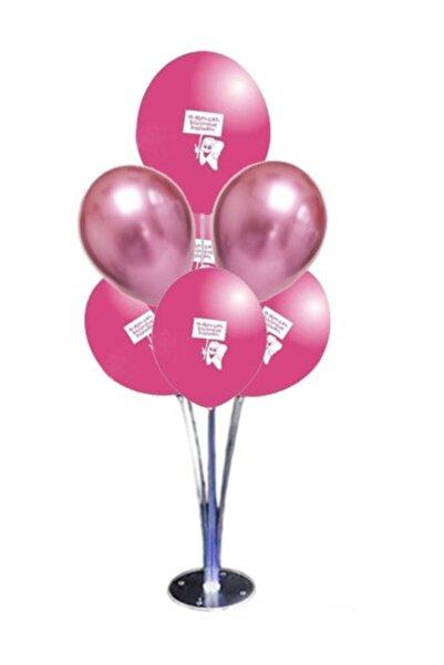 parti Diş Buğdayı Pembe Balon Standı Seti