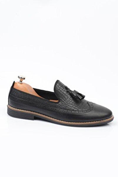 Siyah D2020 Günlük Ortopedik Erkek Rok Ayakkabı  DXTRSROK2020