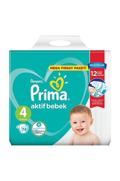 Prima Prima Aktif Bebek Mega Fırsat Paketi 4 No Maxi 74'lü