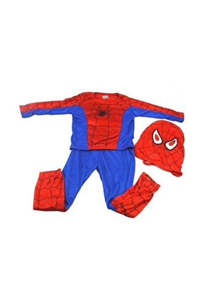 Evistro Spiderman Örümcek Adam Çocuk Kostümü M Beden 5-7 Yaş