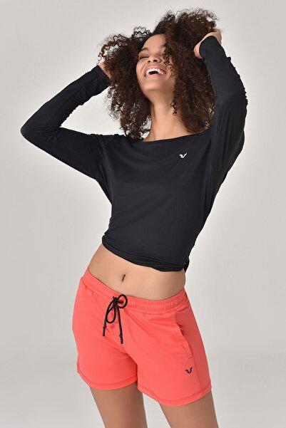 bilcee Siyah Kadın Uzun Kol T-Shirt GS-8108