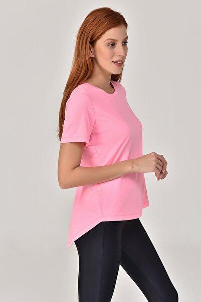 bilcee Pembe Kadın Sırt Detaylı T-Shirt GS-8110