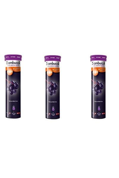 Sambucol Plus Vitamin C + Zinc 15 Efervesan Tablet X 3