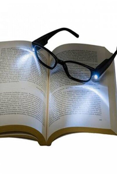 Egonex Hd Led Işıklı Kitap Okuma Gözlüğü Camsız Gözlük