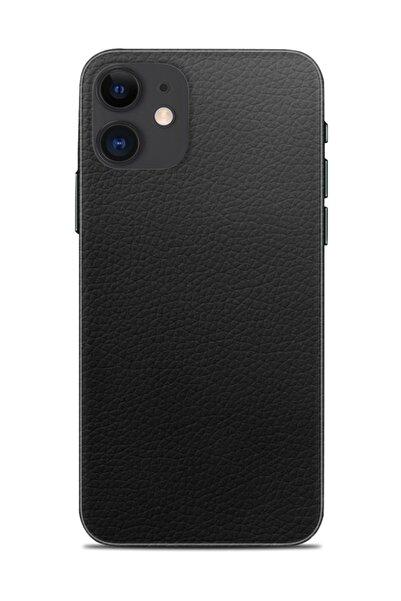 Renkli Garaj Iphone 11 Siyah Deri Telefon Kaplaması