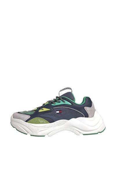 Tommy Hilfiger Erkek Mavi Sneaker Fashıon Chunky Runner EM0EM00408