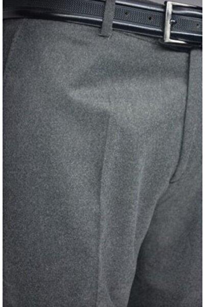 Ege Erkek Giyim Zenelli Kışlık Pantalon Gri -füme Yün
