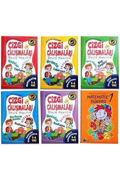Harika Kitap 4 5 6 Yaş Çizgi Çalışması Ve Matematik Dünyası Etkinlik Kitapları Seti 6 Kitap