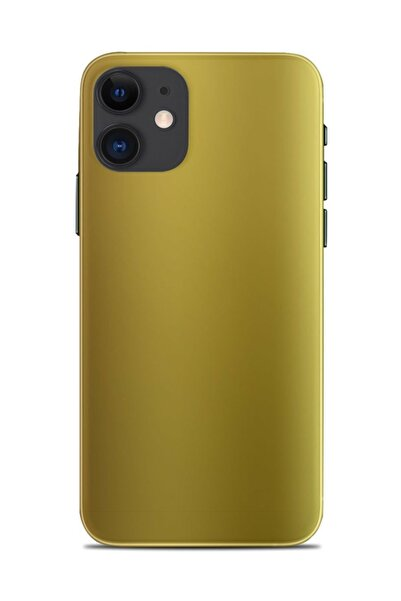 Renkli Garaj Iphone 11 Mat Krom Gold Telefon Kaplaması