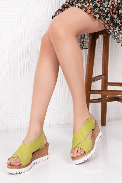 Gondol Hakiki Deri Örgü Taban Sandalet