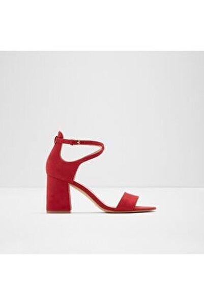 ABOEDIA - Kırmızı Kadın Topuklu Sandalet