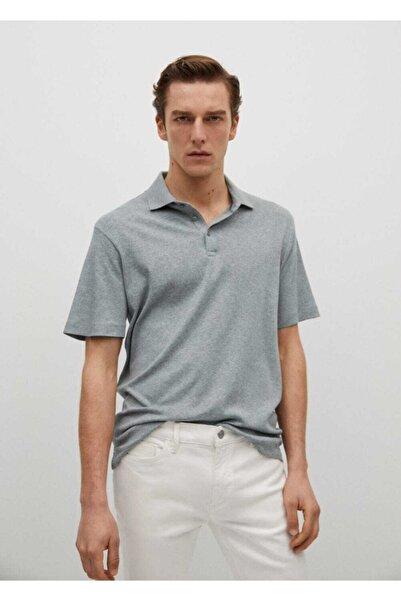 MANGO Man Pamuklu Basic Polo Tişört