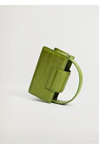 Timsah Derisi Desenli Mini Çanta