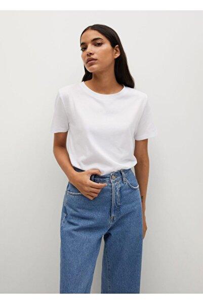 MANGO Woman Organik Pamuklu Basic Tişört