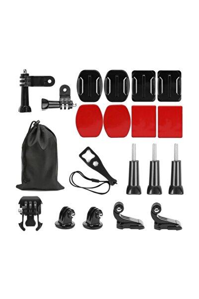 Trendfone Gopro Kameralar Için Düz Ve Eğimli Kask Bağlantı Seti