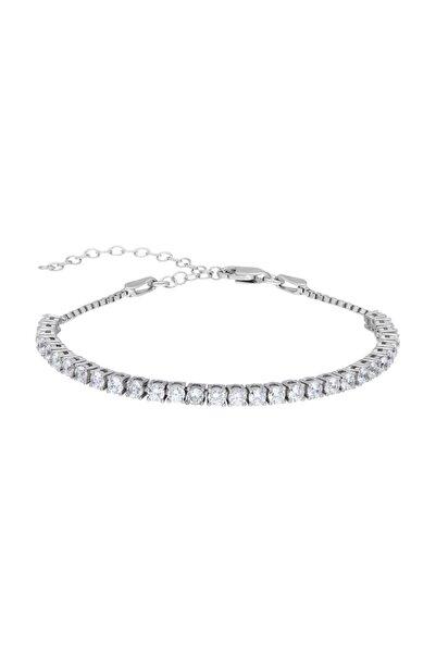 Tesbihane Starlight Diamond Pırlanta Montür Mini Boy 925 Ayar Gümüş Su Yolu Bileklik