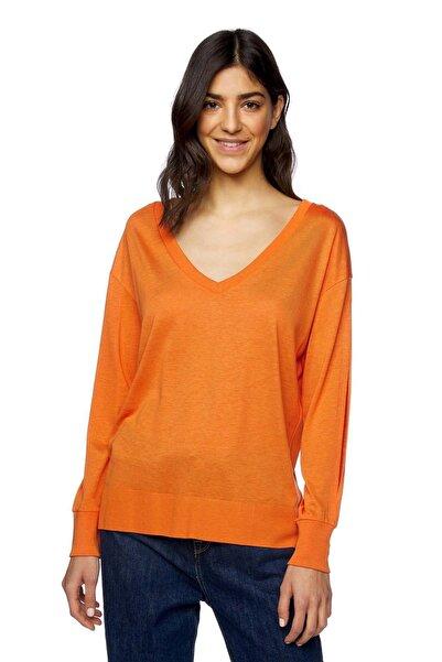 United Colors of Benetton Kadın Liyosel Karışımlı V Yaka Bluz 312013WC7E4236-1C0