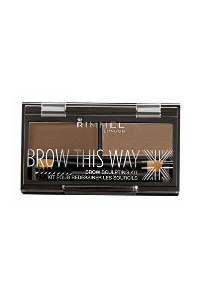 RIMMEL LONDON Kaş Kiti - Brow This Way Kit Medium Brown