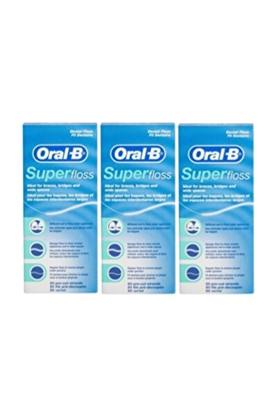 Oral-B Oral B Super Floss Diş Ipi 50 Adet X 3 Adet