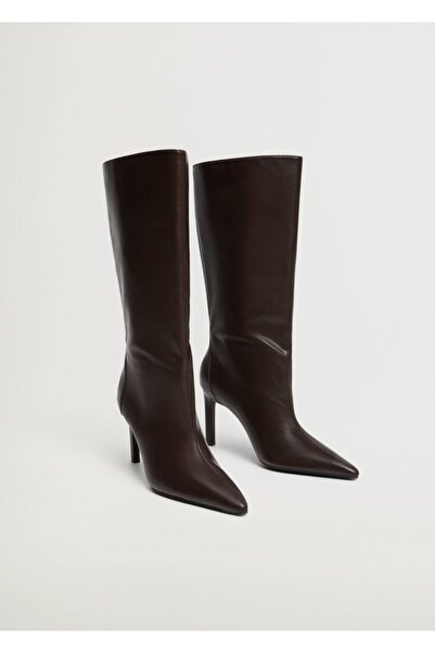 MANGO Woman Kadın Çikolata Çizme 87050086