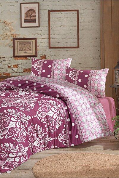 Cotton Touch Irina Fuşya %100 Cotton Poplin Çift Kişilik Nevresim Takımı