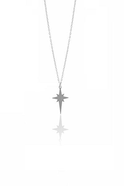 Söğütlü Silver Kadın Gümüş Kutup Yıldızı Modeli Kolye SGTL9711RODAJ