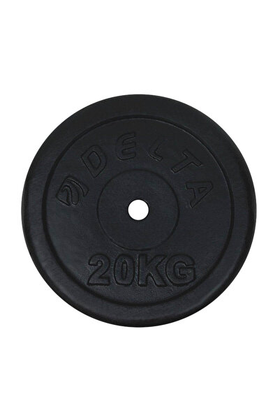 Delta 20 Kg x 1 Adet Siyah Döküm Plaka Ağırlık Flanş