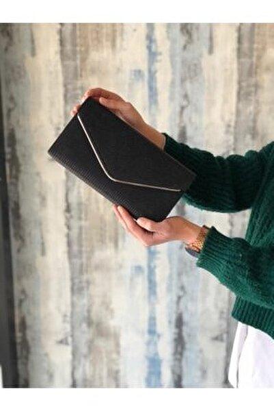 Kadın Simli Siyah Portföy Çanta