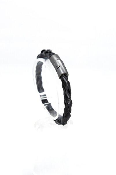 Carrera Unisex Siyah Örgü Bileklik