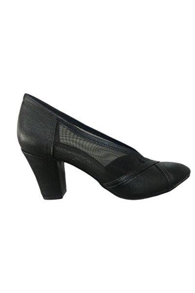 Pandora Kadın Siyah Kalın Topuklu Ayakkabı