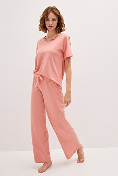 Kadın Açık Mercan LCW DREAM Pijama Takım